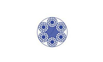 Дротяний канат з круглими пасмами 6×24+7FC
