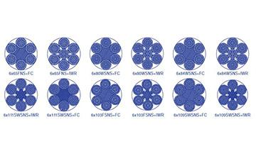 Дротяний канат з круглими пасмами 6×61(ab) і 6×91(ab)