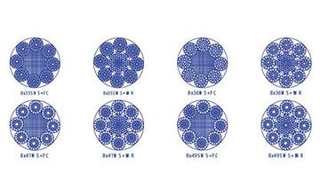 Дротяний канат з круглими пасмами 8×37(a)