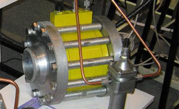 Регулятор тиску газу РДО-Е (осьовий з еластичним затвором)