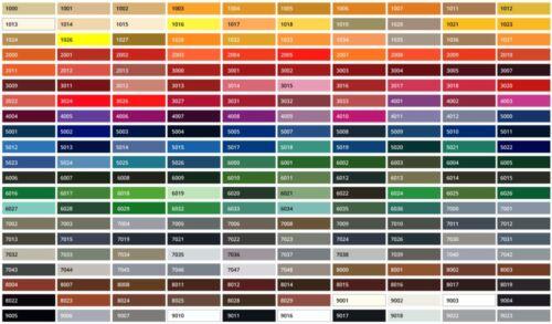 Таблиця кольорів RAL